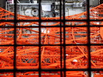 Tokyo tower in the cage. The iron net of the Tokyo Tower Stock Photo