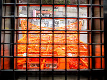Tokyo tower in the cage smaller. Famous place - Tokyo tower in the cage smaller Stock Photos