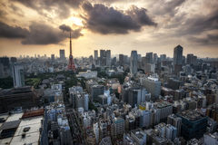Tokyo tower city view Royalty Free Stock Photos