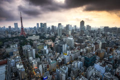 Tokyo tower city view Royalty Free Stock Image