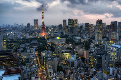 Tokyo tower city view Stock Photo