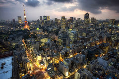 Tokyo tower city view Royalty Free Stock Images