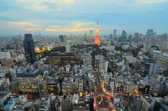 Tokyo Tower and Cityscape royalty free stock photo