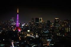 Tokyo Tower cityscape Stock Photos