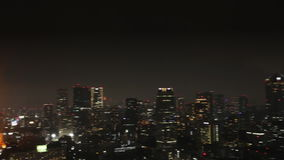 Tokyo Tower cityscape stock footage
