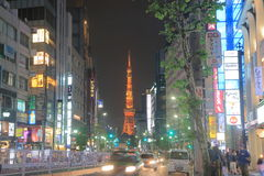 Tokyo tower cityscape Stock Image