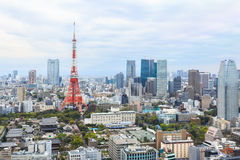 Tokyo Tower cityscape Japan. Royalty Free Stock Image