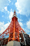Tokyo Tower cloud blue sky Stock Images