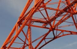 Tokyo tower detail Stock Photography