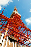 Tokyo tower face cloudy sky Royalty Free Stock Photography