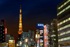 Tokyo Tower From Hamamatsucho Station Stock Images
