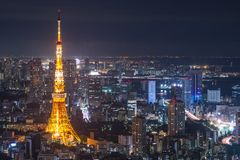 Tokyo. Tower in , Japan Royalty Free Stock Photography