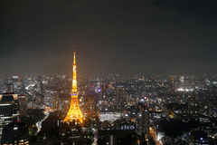 Tokyo Tower, Japan. Night view of Tokyo Tower stock photo