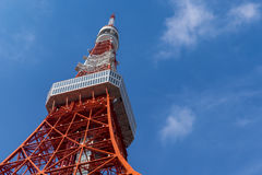 Tokyo tower, The landmark of Japan in blue sky Stock Photography