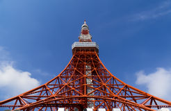 Tokyo tower, The landmark of Japan in blue sky Stock Photos