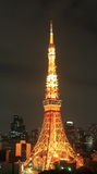 Tokyo tower at night Stock Image