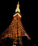 Tokyo Tower at night. With orange color Stock Photo