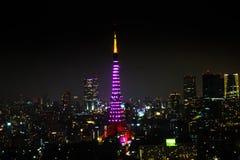 Tokyo Tower night Royalty Free Stock Photo