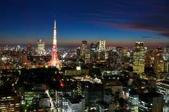 Tokyo tower night Stock Photo