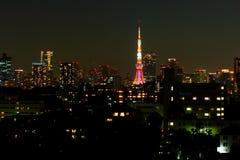 Tokyo tower night Royalty Free Stock Image