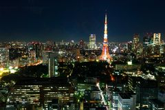 Tokyo tower night Royalty Free Stock Photography