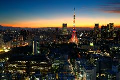 Tokyo tower night Royalty Free Stock Photos