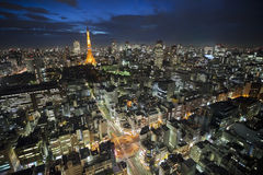Tokyo Tower at night Royalty Free Stock Photos