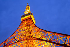 Tokyo tower at night Stock Photos