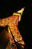 Tokyo tower night scene Stock Images