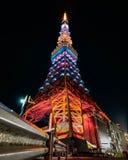 Tokyo tower night time stock photos