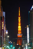 Tokyo tower at night in Tokyo, Japan Stock Photo