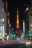Tokyo tower at night in Tokyo, Japan Royalty Free Stock Images
