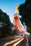 Tokyo Tower at night. Royalty Free Stock Photography