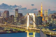 Tokyo Tower Rainbow Bridge Stock Photography