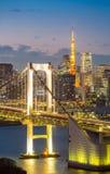 Tokyo Tower Rainbow Bridge Stock Photos