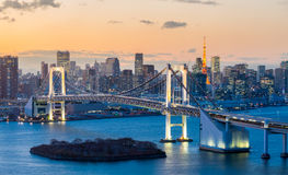 Tokyo Tower Rainbow Bridge Royalty Free Stock Image