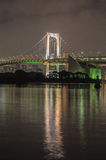 Tokyo tower and rainbow bridge in Tokyo, Japan. Royalty Free Stock Photography