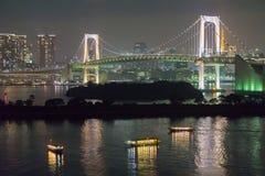 Tokyo tower and rainbow bridge in Tokyo, Japan. Stock Images