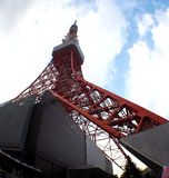 Tokyo tower red and white color . Royalty Free Stock Image