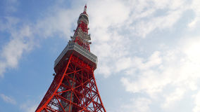 Tokyo tower red and white color . Royalty Free Stock Photo
