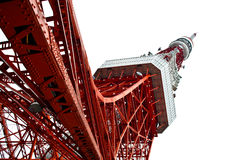 Tokyo tower. Red and white tokyo tv tower Royalty Free Stock Photography