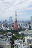 Tokyo tower and roppongi hills. In sunny day stock photography