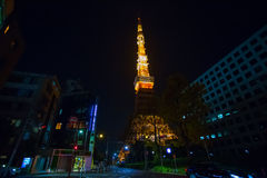 Tokyo Tower's celebrating the 55th year in Japan Stock Photo