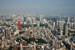 Tokyo Tower seen from Roppingi Hills Royalty Free Stock Photo