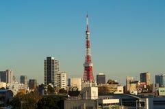 Tokyo Tower Seen from Roppongi Hills Neighborhood in Tokyo Stock Photos