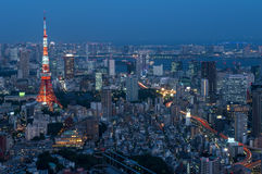 Tokyo Tower seen from Roppongi Hills in Tokyo, Japan Royalty Free Stock Photography