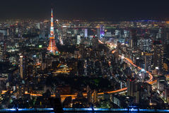 Tokyo Tower seen from Roppongi Hills in Tokyo, Japan Royalty Free Stock Image