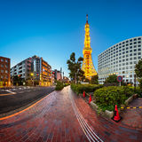 Tokyo Tower and Shibakoen Street in the Morning, Minato, Tokyo,. Japan Stock Images