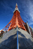 Tokyo Tower standing high up Stock Photo