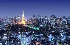 Tokyo Tower stands amongst the Minato-ku Cityscape Stock Photos